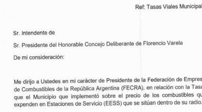 FECRA presentó un dictamen para impugnar el pago de la Tasa Vial