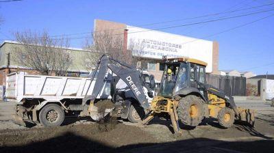 Río Gallegos: retomaron los trabajos de pavimentación sobre las calles afectadas por la obra del pluvial