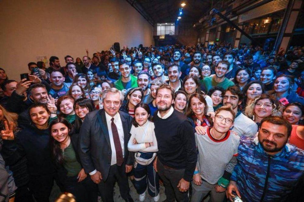 Junto a Lammens en CABA, Fernández pidió a los jóvenes que