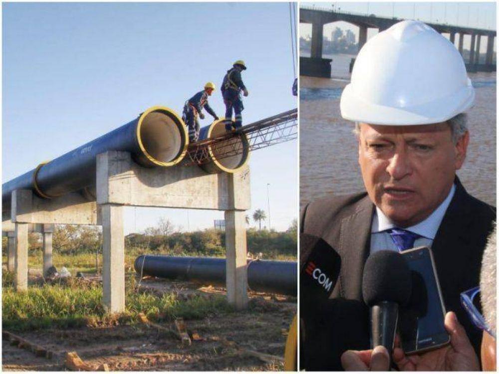 """Peppo visitó la obra del Segundo Acueducto: """"Significa agua potable para más de 500 mil chaqueños"""""""