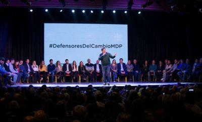 """Montenegro arengó a una multitud y pidió """"defender el cambio en Mar del Plata"""""""