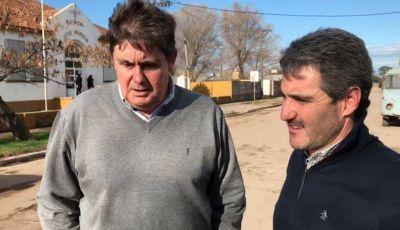 Gargaglione junto a Diez recorrieron los accesos a los centros de salud y escuelas de Quequén