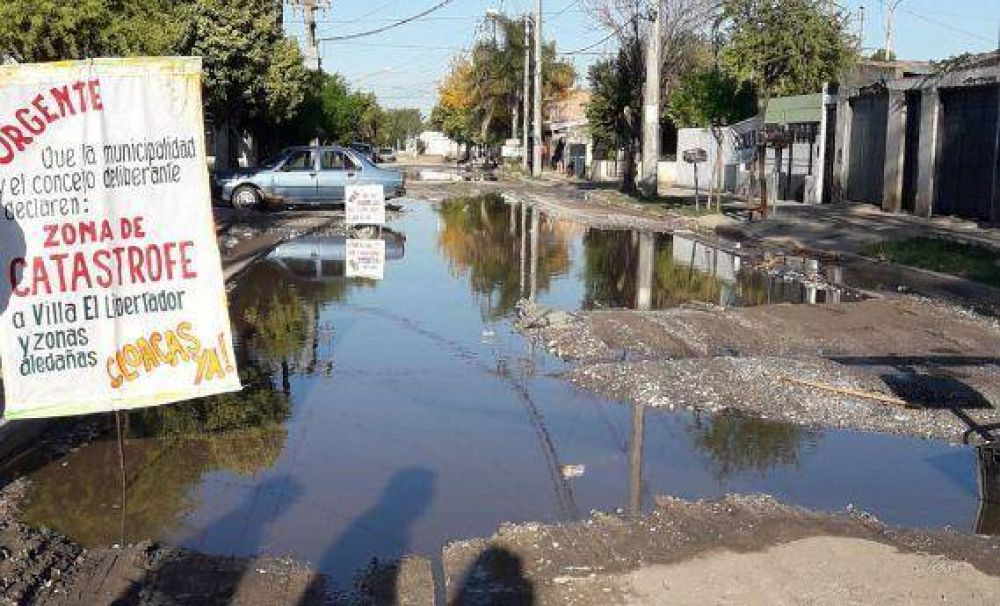 Villa el Libertador: aprueban crédito para solucionar problemas cloacales