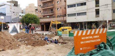 Comenzó la construcción de la segunda etapa de desagües en calle Las Heras