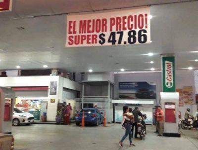 Axion redujo 50 centavos el valor de su nafta Súper