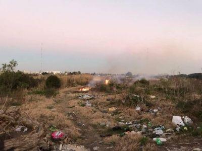Otra quema en la cantera de Hernández y un pedido de informes en el Concejo