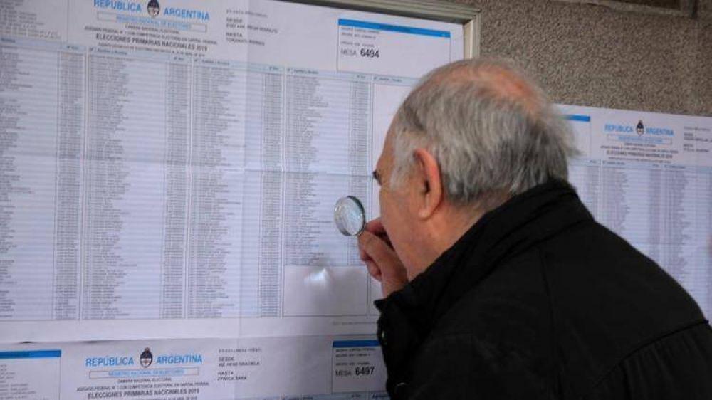 PASO: los primeros resultados se informarán cuando estén escrutadas el 10% de las mesas de los cuatro principales distritos del país