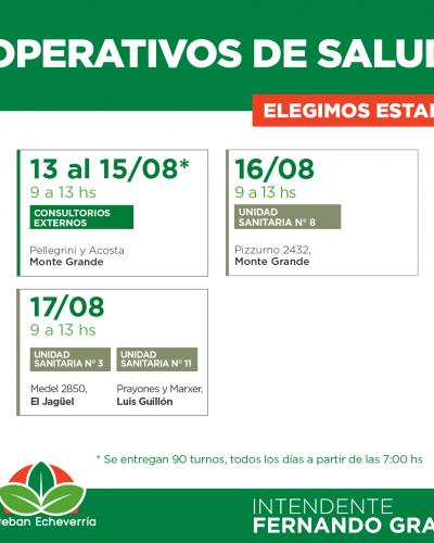 Controles de salud para niños en Monte Grande, el Jagüel y Luis Guillón