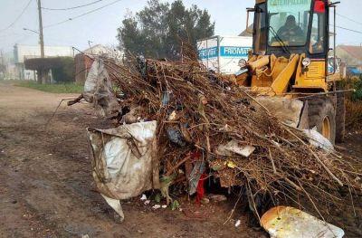 En el barrio Santa Rita retiraron más de 100 mil kilos de basura