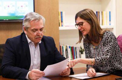 Fernanda Raverta se reunió con Alberto Fernández