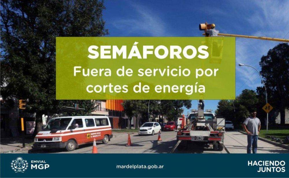 Un corte de luz afectó a distintos barrios de Mar del Plata