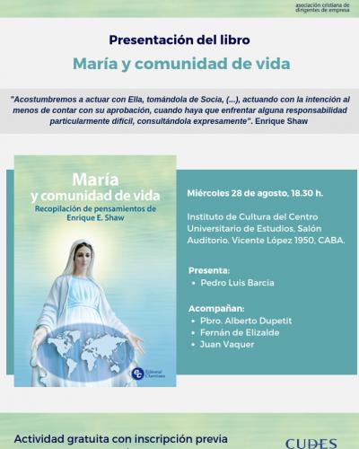 """Misa en memoria de Enrique Shaw y presentación del libro """"maría y comunidad de vida"""""""