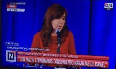 Organización Sionista Argentina: «Es una paradoja del destino que la señora Fernández, promotora del Memorándum de encubrimiento con Irán, utilizara el ejemplo de las naranjas israelíes»
