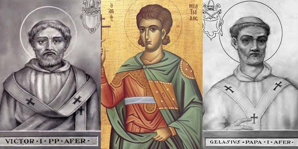Los tres papas africanos de la Iglesia