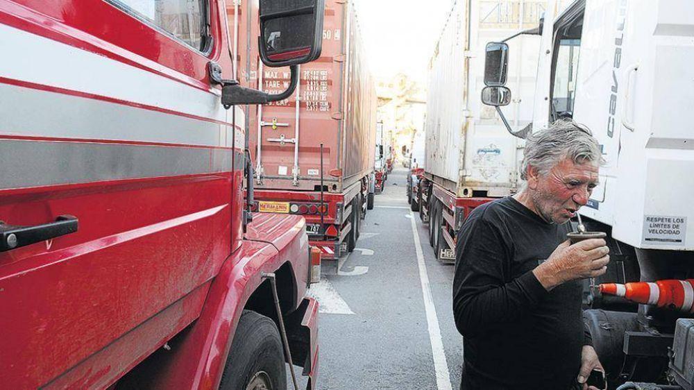 Paro de camioneros en Chubut