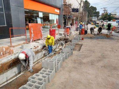 Avanza la construcción de desagües en calle Las Heras