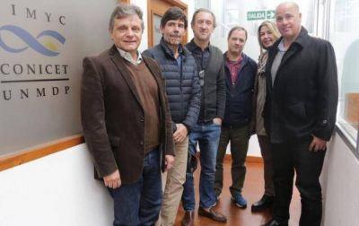 Pulti visitó el Conicet Mar del Plata