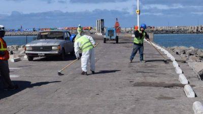 Con una inversión de más de $6 millones, el Puerto comenzó la pavimentación de la Escollera Norte