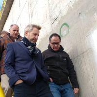 Frigerio visitó las obras de la planta depuradora y anunció un 90% de avance