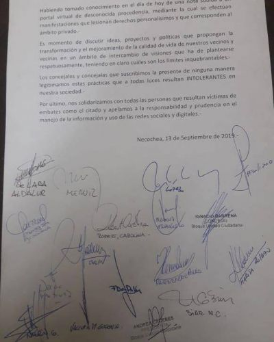 Concejales de Necochea se solidarizaron con Facundo López y Mario Gygli