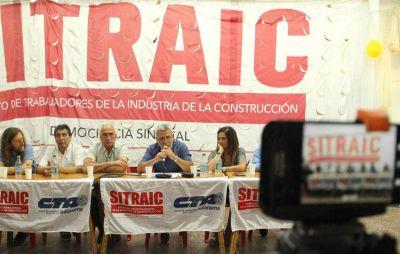 Video: El SITRAIC presentó un plan de emergencia con mano de obra intensiva para la construcción