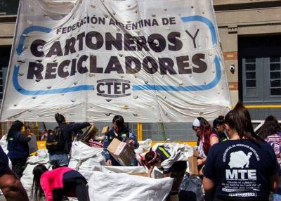 """Cartoneros, Carreros y Recicladores se movilizan """"contra la importación de residuos"""""""