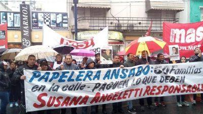 Gestión obrera: despedidos de Ansabo resolvieron poner a producir la papelera