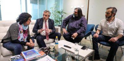 Roberto Baradel se reunió con Alberto Fernández y le presentó su proyecto educativo