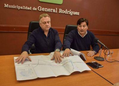General Rodríguez: el intendente anunció que se realizará la obra del colector de la Avenida Ricardo Balbín