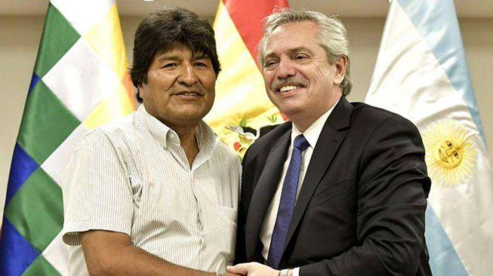 Alberto Fernández con Evo Morales: