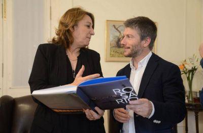 Bonifatti se reunió con la intendente de Rosario Mónica Fein