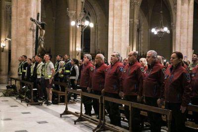 Más de 800 efectivos, personal y cadetes de la Policía de la Ciudad peregrinaron a la Basílica de Luján