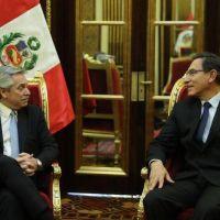 Vizcarra recibió a Alberto y le confirmó que no aceptará una intervención militar en Venezuela