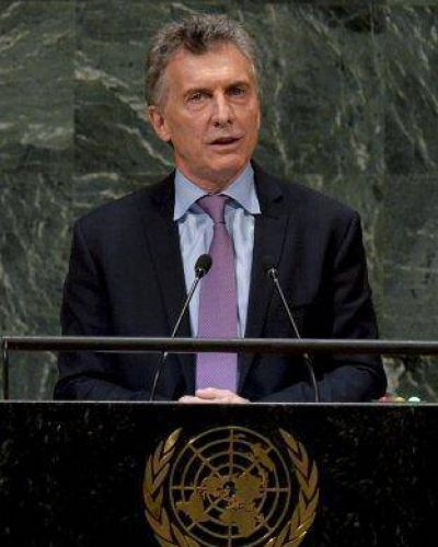 Macri viaja a Estados Unidos para participar de la Asamblea General de la ONU