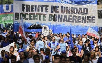 Docentes bonaerenses retoman la agenda de reclamos y exigen a Vidal recuperar el poder adquisitivo
