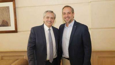 Stevanato firmó un acuerdo con Alberto para hacer cloacas en Rodeo, Beltrán y San Roque