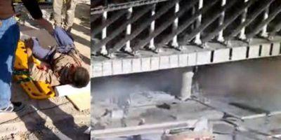 [VIDEOS] Imágenes del trágico derrumbe en Ezeiza que dejó un obrero muerto y siete heridos