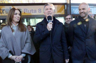 Vidal vuelve al Conurbano de la mano de Macri y un hombre de Peña