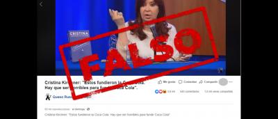 """Es falso que FEMSA, embotelladora de Coca-Cola, """"se fundió"""", como afirmó CFK"""