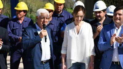 Vidal inauguró la nueva planta potabilizadora de General Rodríguez