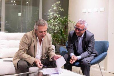 Zamora se reunió con Alberto Fernández