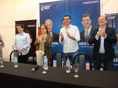 Pérez recibió en Solano a Urtubey y Camaño