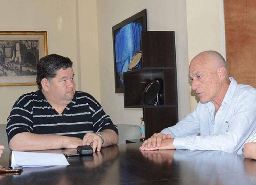 Nedela recibió al presidente del Banco Alimentario La Plata