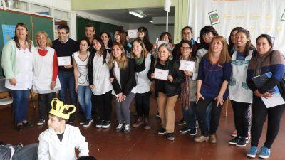 En la Escuela Nº 12, López fue parte de la 17º Maratón Nacional de Lectura