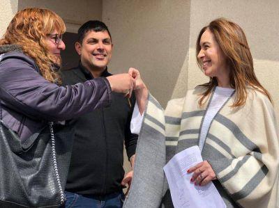 """En su paso por la Séptima, Vidal prometió """"seguir junto a la gente"""" más allá del resultado electoral"""