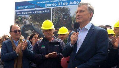 Cómo son las obras para evitar inundaciones que inauguró Macri en Saladillo