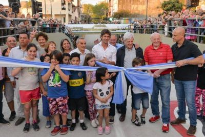 San Fernando: Andreotti inauguró el túnel de Quirno Costa