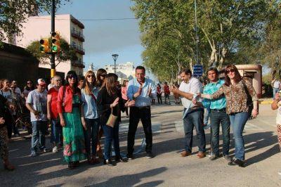 Zárate: Cáffaro inauguró la avenida Mitre