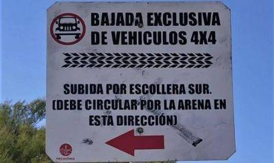 Advierten sobre las multas para los vehículos con motores que circulen en la playa