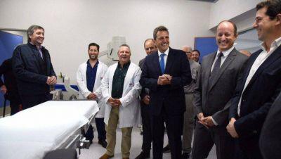 Con Máximo y Massa, Insaurralde inauguró un hospital y calificó de insensible a Vidal
